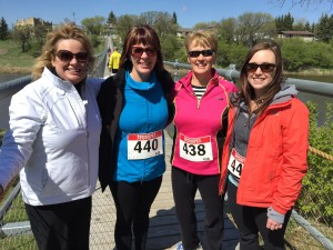 Spin members at Andrew Dunn walk in Souris